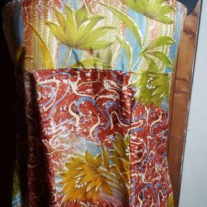 Tropical Silkey Skirt or Strapless Dress